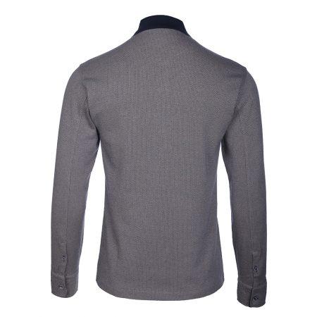 بلوز آستین بلند یقه کش مردانه