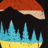 تیشرت چاپ جنگل مردانه
